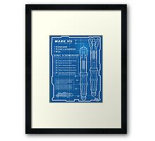 "Sonic Screwdriver ""Mark VII"" Poster Framed Print"