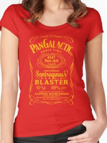 Pan Galactic Gargle Blaster - No. 42 [LEMON/BRICK-RED] Women's Fitted Scoop T-Shirt