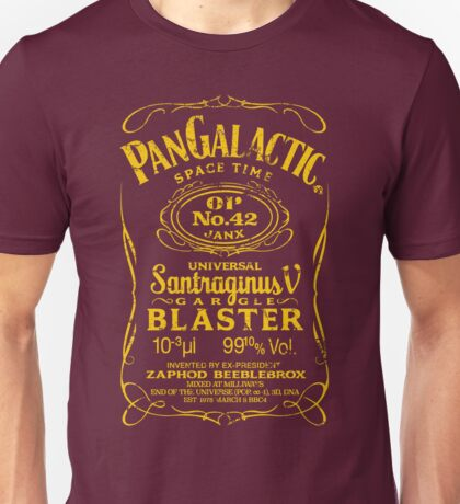 Pan Galactic Gargle Blaster - No. 42 [LEMON/BRICK-RED] Unisex T-Shirt