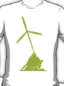 Raising wind turbines T-Shirt