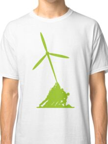 Raising wind turbines Classic T-Shirt
