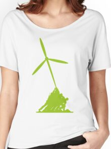 Raising wind turbines Women's Relaxed Fit T-Shirt