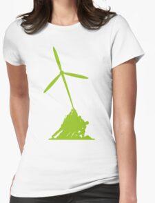 Raising wind turbines Womens Fitted T-Shirt