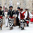 Medieval soldiers of Dubrovnik, Croatia by Sheldon Levis