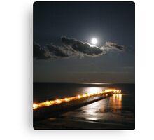 Moon Rise Over Folly Canvas Print