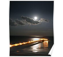 Moon Rise Over Folly Poster