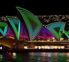 Time Tunnel Sails - Sydney Vivid Festival - Sydney Opera House by Bryan Freeman