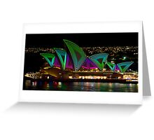 Time Tunnel Sails - Sydney Vivid Festival - Sydney Opera House Greeting Card