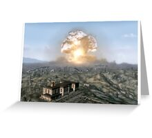 Fallout Megaton Destroyed Greeting Card