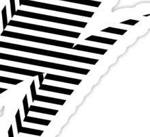Striped Lightning Bolt Sticker