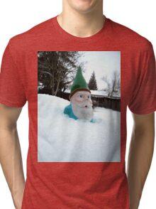 Deep Winter Gnome Tri-blend T-Shirt