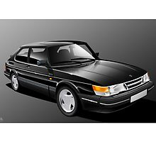 Saab 900 Turbo illustration by Autographics