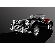 Triumph TR3A Illustration by Autographics