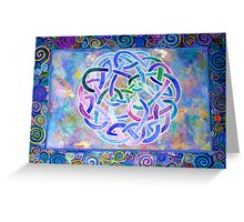 Celtic Triptych Part one Greeting Card