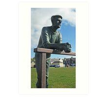 The Bronze Man, Port William, Scotland Art Print