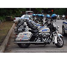 NYPD Motorcycles in a Row Photographic Print