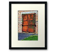 Rusty Door Framed Print