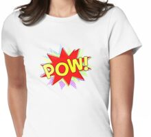 Retro POW! Womens Fitted T-Shirt