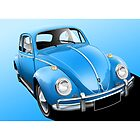 VW Beetle Illustration by Autographics