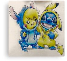 Pika& Stitch Canvas Print
