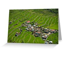 2000-year old Batad Rice Terraces, Philippines Greeting Card