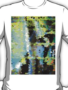 Lake surface reflecting tree blossoms T-Shirt
