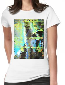 Lake surface reflecting tree blossoms Womens Fitted T-Shirt