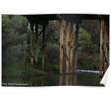 Murray River Bridge - Pinjarra WA Poster