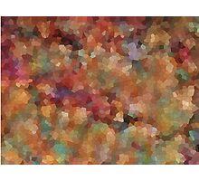 Mosaic Landscape, Falling Leaves Photographic Print