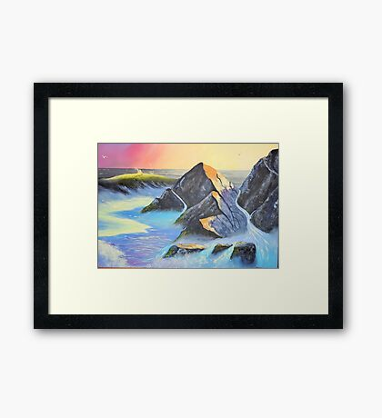 Sunset over the Sea Framed Print