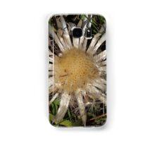 Dwarf Carline Thistle (Carlina acaulis) in the Swiss Alps. Samsung Galaxy Case/Skin
