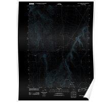 USGS Topo Map Oregon Battle Creek Ranch 20110824 TM Inverted Poster