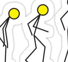 Stick figure evolution Sticker