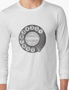 Telephone Dial Long Sleeve T-Shirt