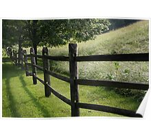 Farm Fence on a June Morning  Poster