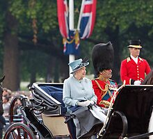 The Queen Trooping the colour 2011 by Keith Larby