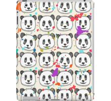 splatter pop panda cookies iPad Case/Skin