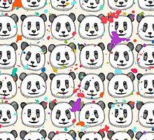 splatter pop panda cookies by Sharon Turner