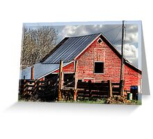 The Red Barn in the Valley Greeting Card