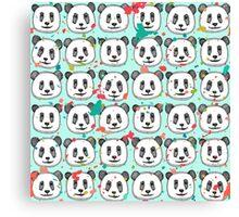 splatter pop panda cookies mint Canvas Print
