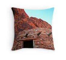 The Cabins-Valley of Fire State Park-NV Throw Pillow