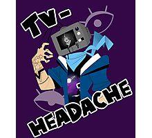 television headache Photographic Print
