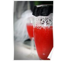 Wine Glass Wedding Poster
