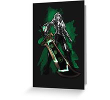 League of Legends Riven (black) HQ Greeting Card