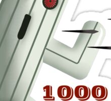 1000 Bullets Sticker