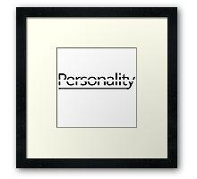 Split personality Framed Print