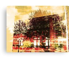 Reflections on the Old Depot Canvas Print
