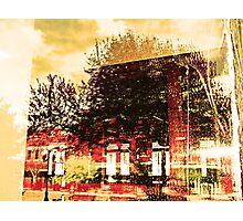 Reflections on the Old Depot Photographic Print