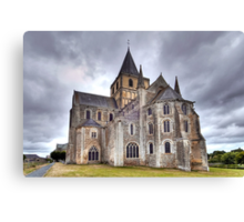 Church of Saint-Vigor de Cerisy-la-Forêt Canvas Print