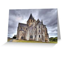 Church of Saint-Vigor de Cerisy-la-Forêt Greeting Card